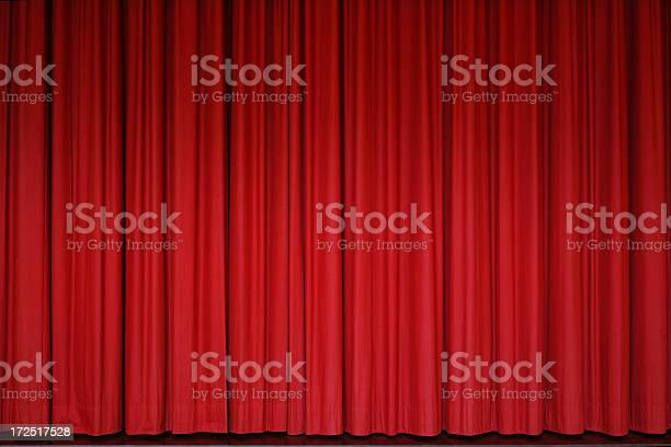 Red Curtain Stock Photo - Download Image Now