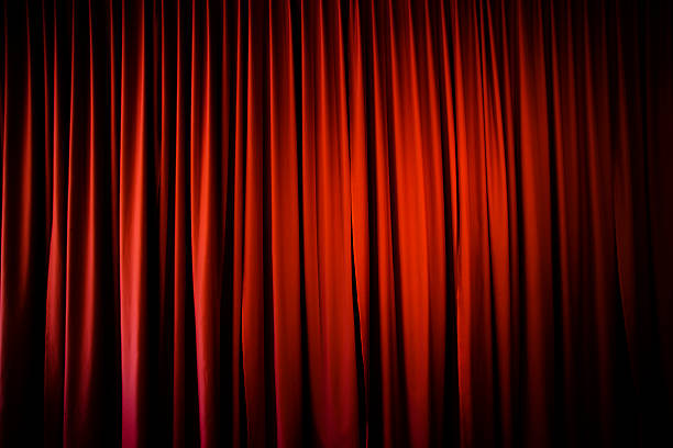red curtain - backstage stock photos and pictures