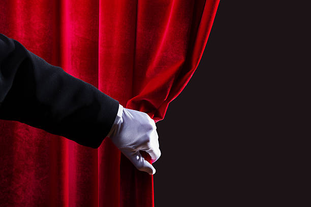 red curtain - fame stock photos and pictures