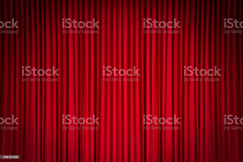 Cortina roja  - foto de stock