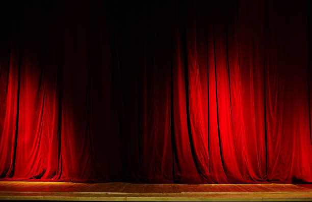 red curtain. xxl - opera stock photos and pictures