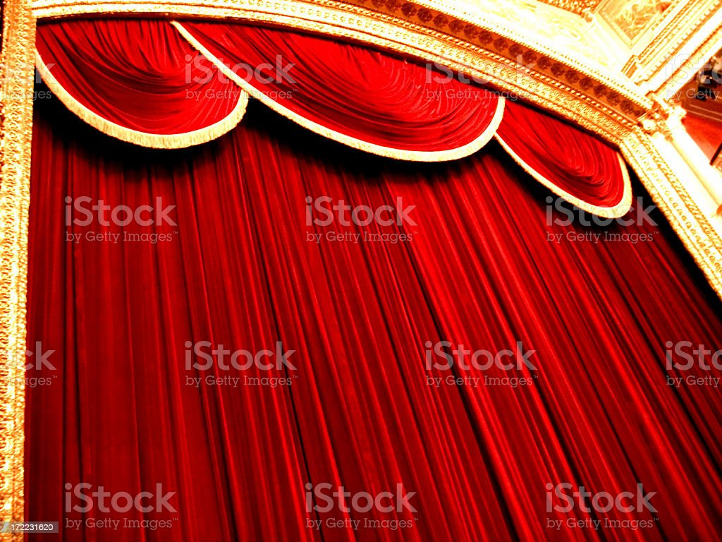 red curtains royalty-free stock photo