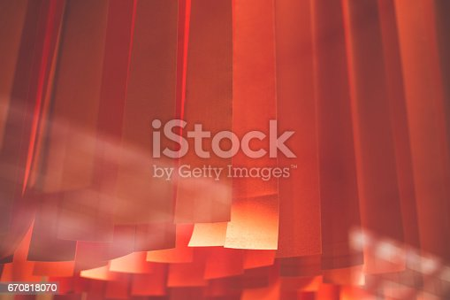 istock Red curtains 670818070