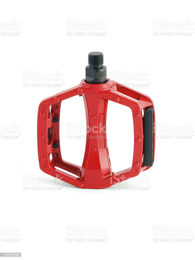 red cycling pedal royalty-free stock photo