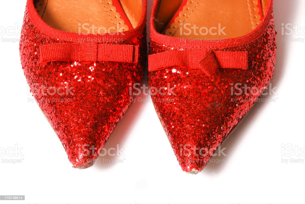 Red dancing shoes royalty-free stock photo