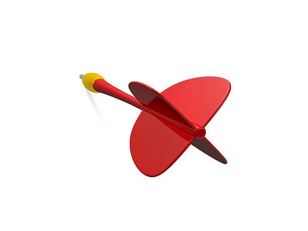 Red Dart Arrow stock photo