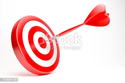 859332096 istock photo Red Dart Icon Isolated On White Background 1018351792