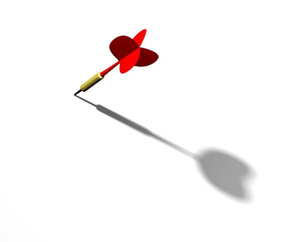 Red dart stock photo