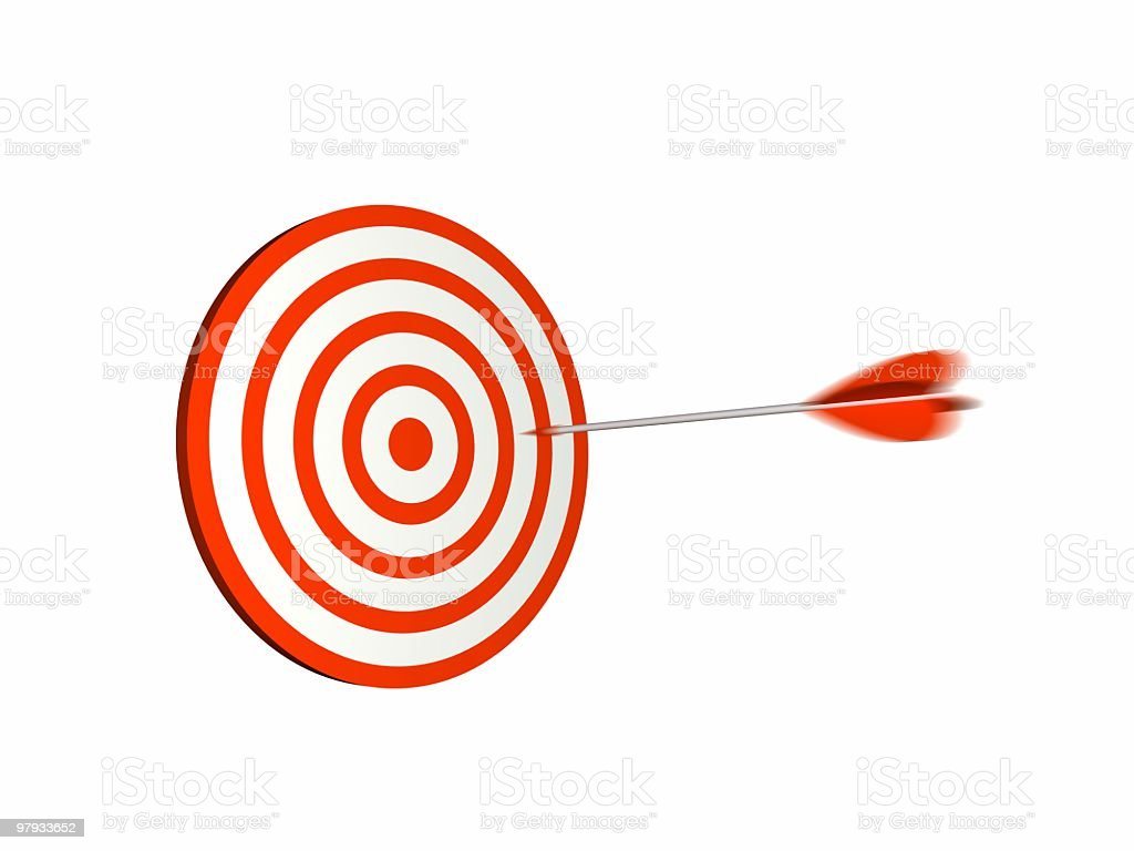 Red dartboard royalty-free stock photo