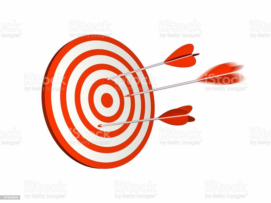 Red dartboard royalty-free stock photo
