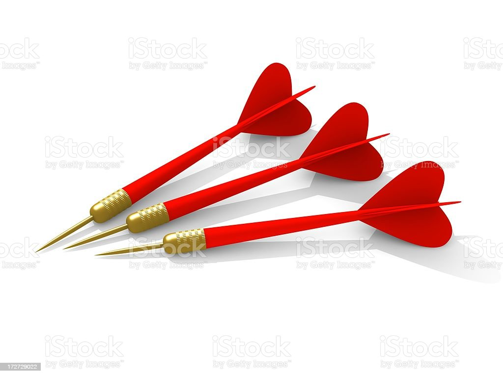 red darts royalty-free stock photo