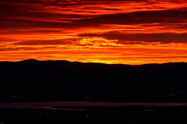 Kızıl Şafak stok fotoğrafı