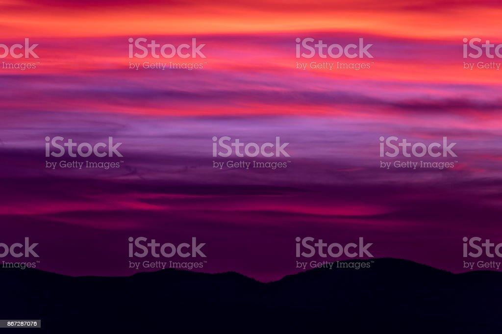Kırmızı şafak stok fotoğrafı