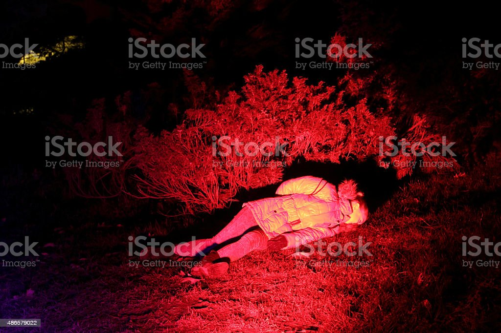 red dead person stock photo