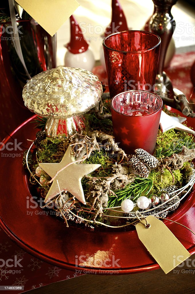 Red Decor for Christmas. royalty-free stock photo