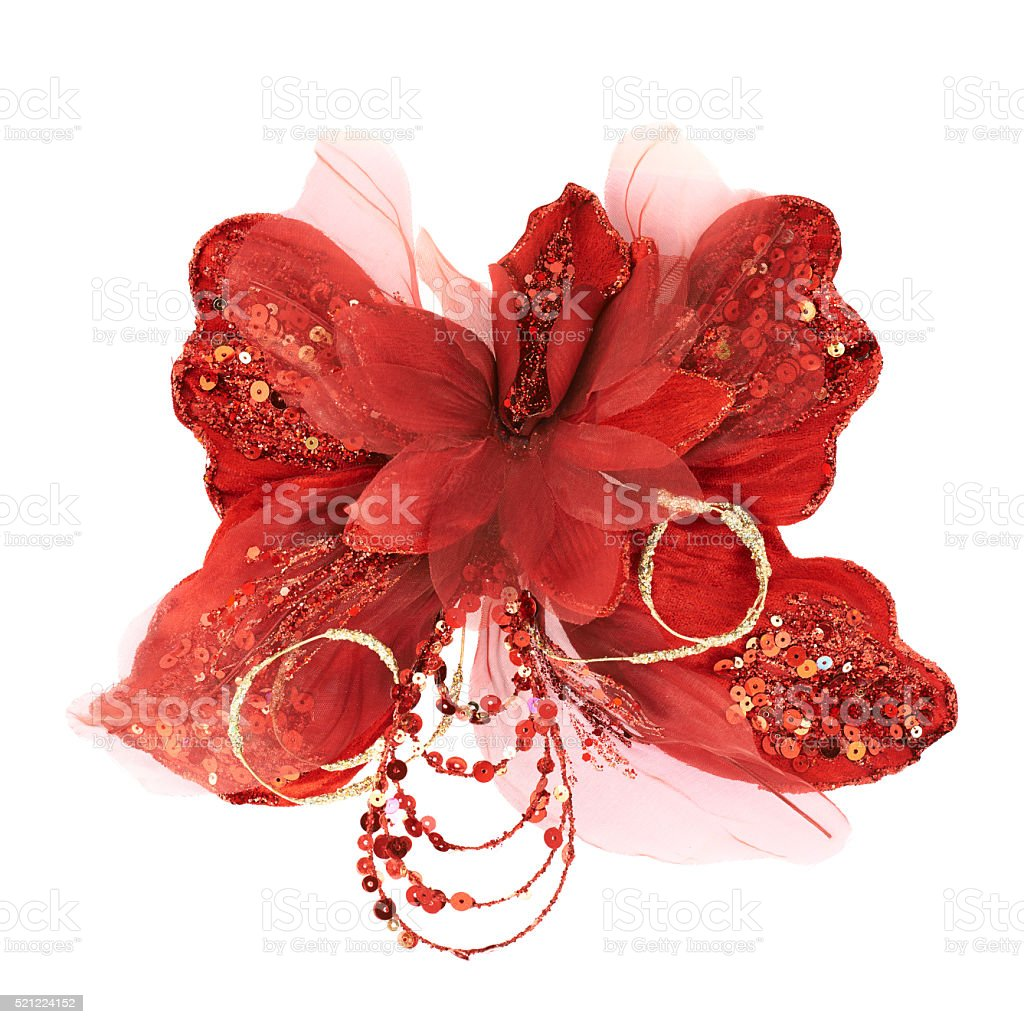 Red decorational synthetic butterfly stock photo