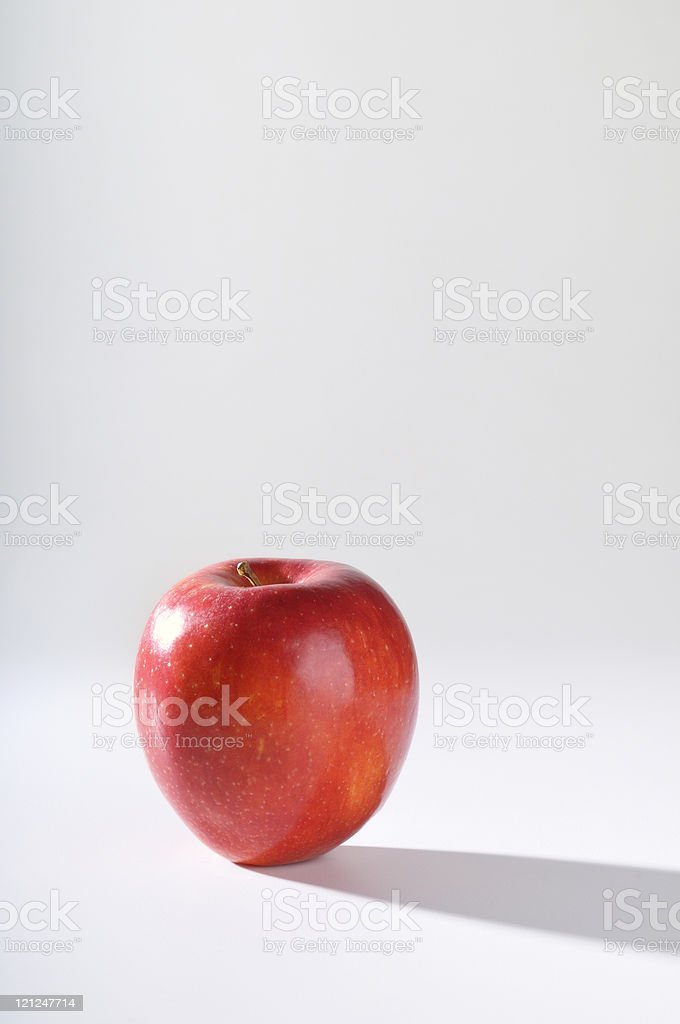 Red Delicious Apple long shadow royalty-free stock photo
