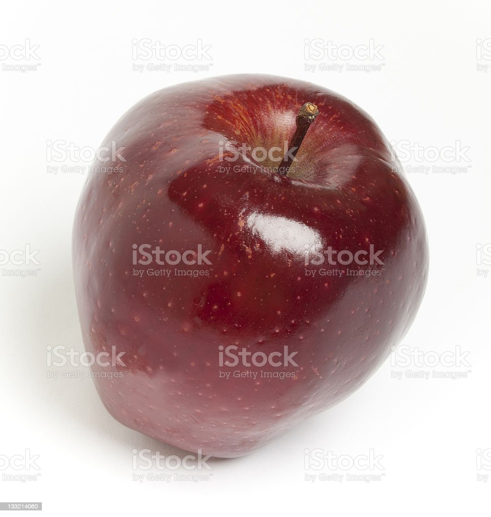 Red Delicious Apple on a White Background stock photo