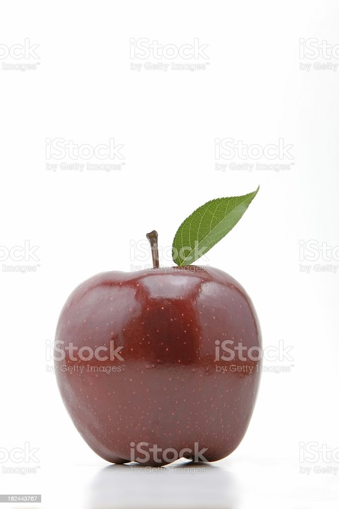 Red delicious apple on white royalty-free stock photo