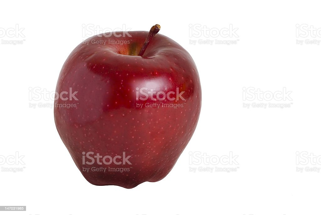 Red delicious Apple perfect - isolated royalty-free stock photo