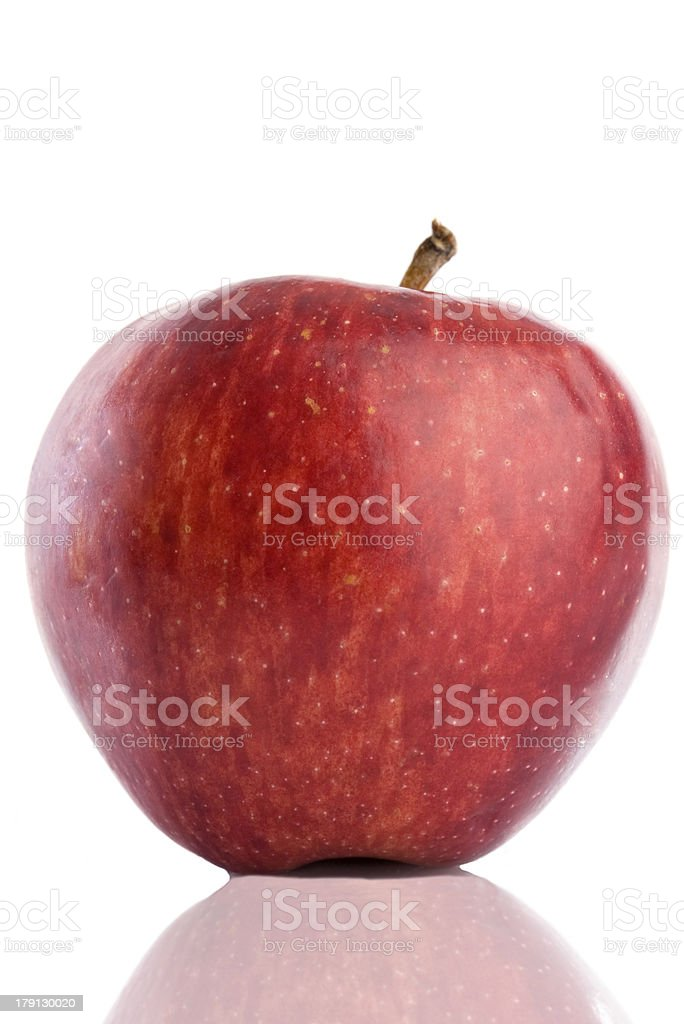 red delicious apple with reflection royalty-free stock photo