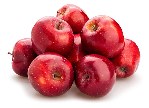 red delicious apples red delicious apples isolated red delicious apple stock pictures, royalty-free photos & images