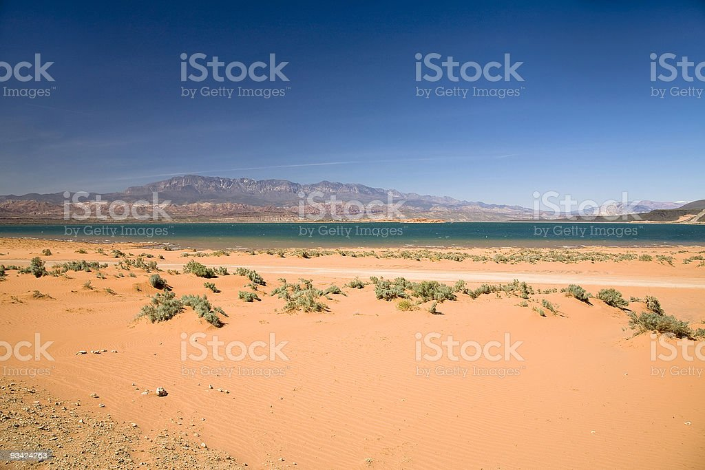 red desert at sand hollow stock photo