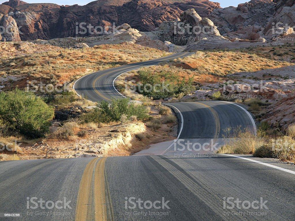 Red Desert Dip royalty-free stock photo