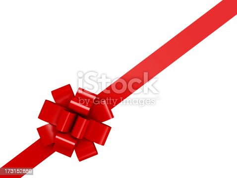 Gift Bow with clipping path