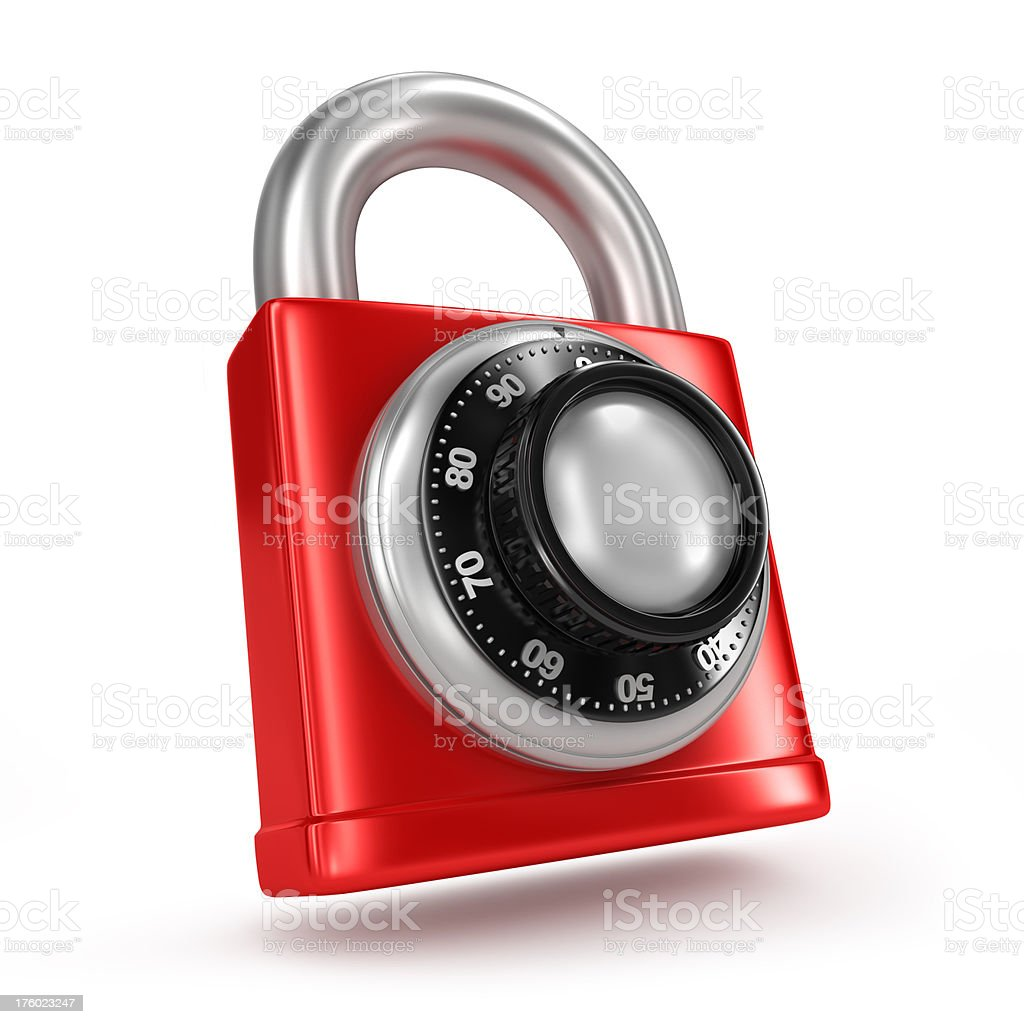 red dial lock royalty-free stock photo