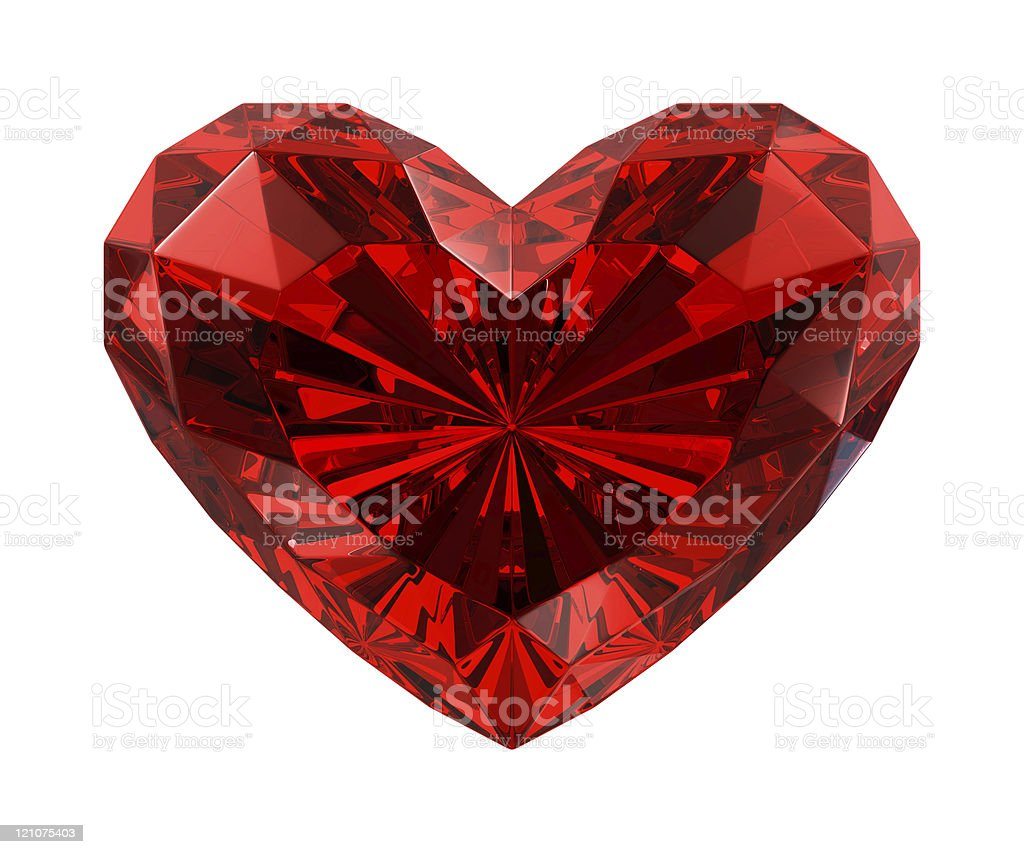 red diamond heart stock photo amp more pictures of clip art