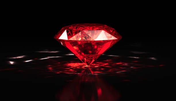 diamant rouge - diamant pierre précieuse photos et images de collection
