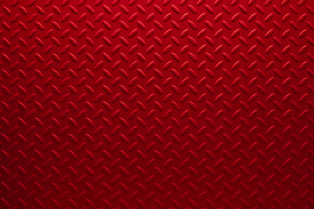 red diamondplate - diamond plate background stock photos and pictures