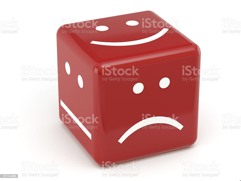 red dice of mood royalty-free stock photo