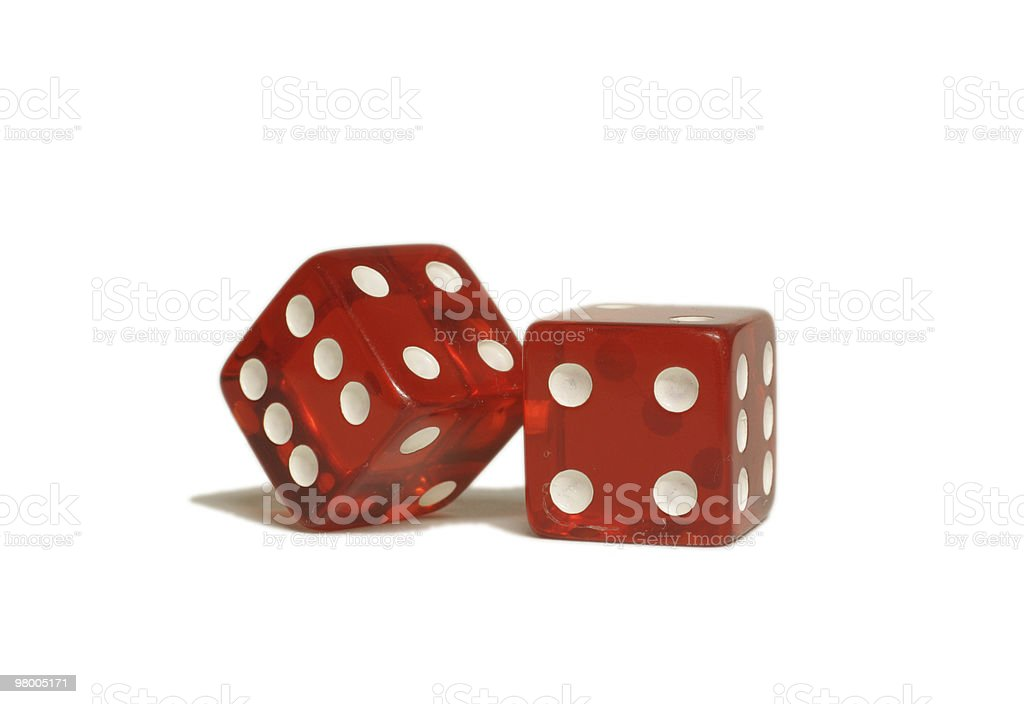 Red Dice royalty free stockfoto