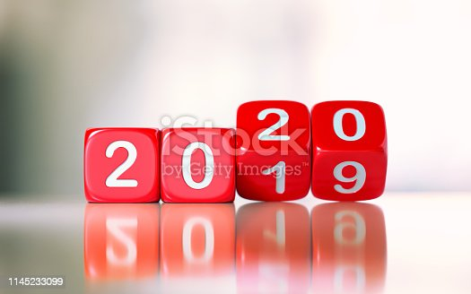 istock Red Dices Changing From 2019 To 2020 1145233099