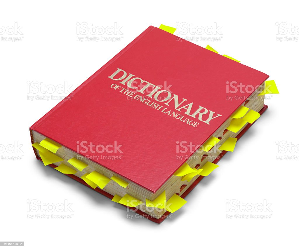 Red Dictionary with Notes stock photo