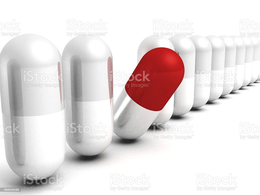 red verschiedenen gute Wahl medical pill. Gesundheitswesen Konzept – Foto