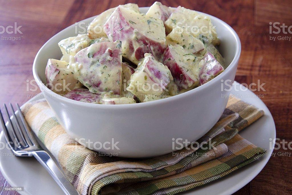 Red Dijon Potato Salad royalty-free stock photo