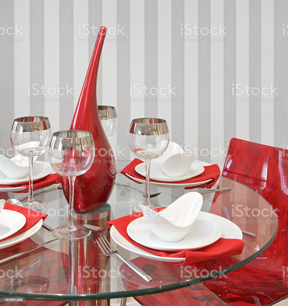 Red Dining Table Stock Photo Download Image Now Istock