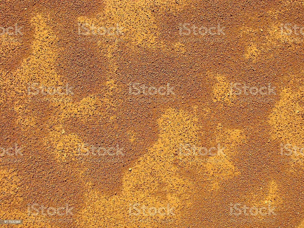 Red dirt. stock photo