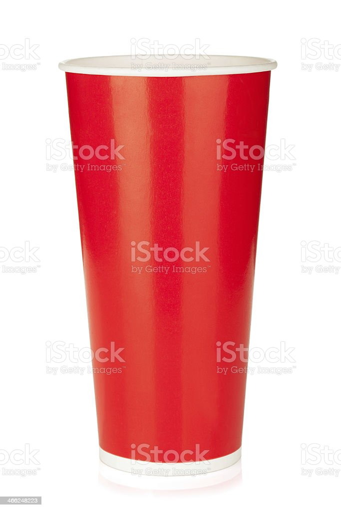 Red disposable cup royalty-free stock photo