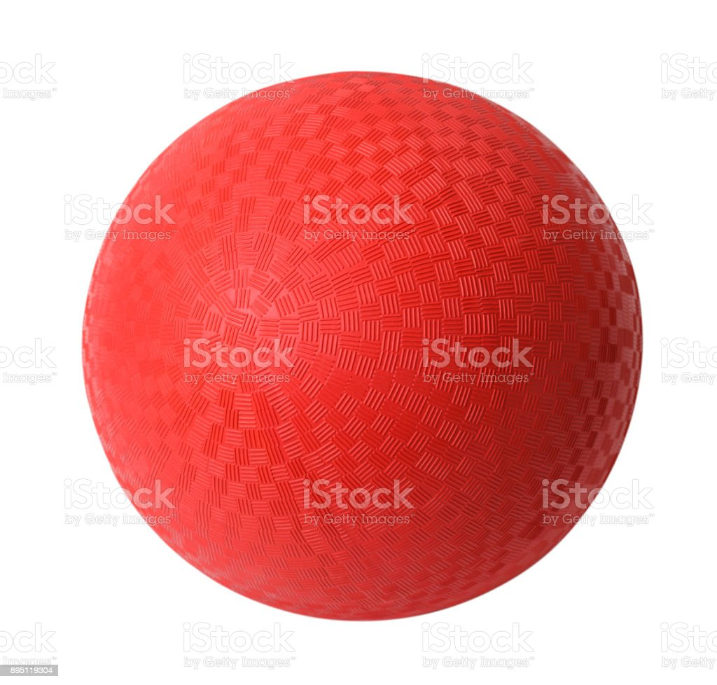 Red Dodgeball stock photo
