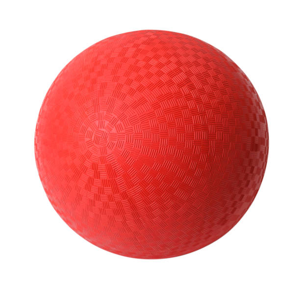 red dodgeball - ball stock photos and pictures