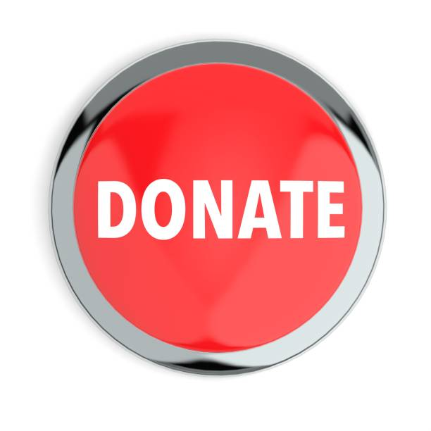 Red Donate Button stock photo