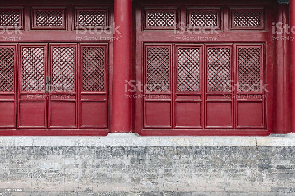 Red Door en chino tradicional Palace foto de stock libre de derechos