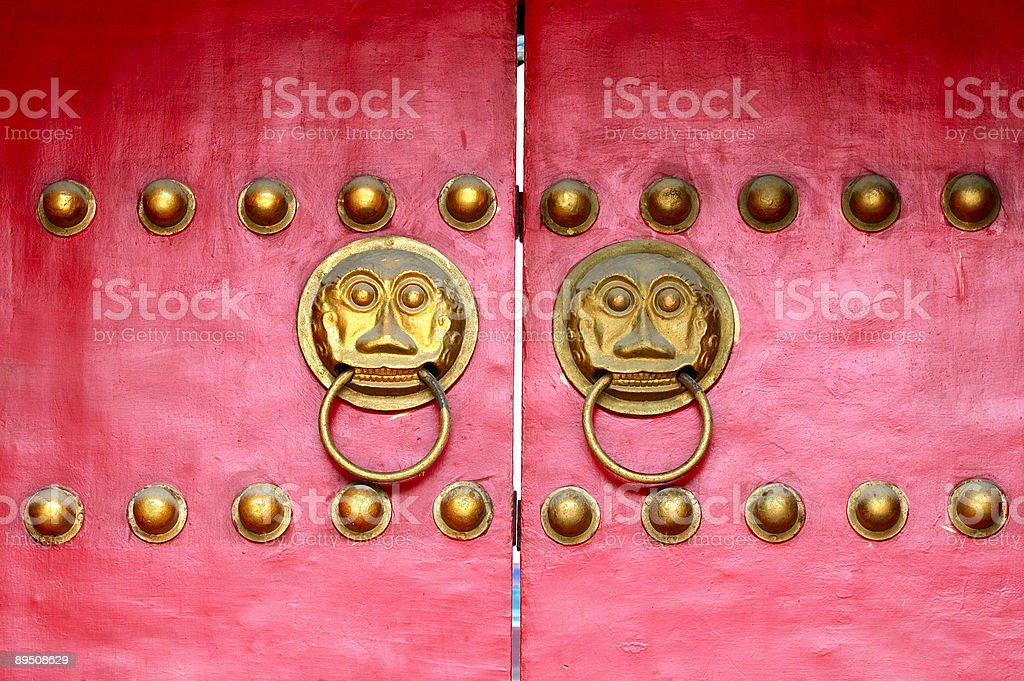 Red door royalty-free stock photo