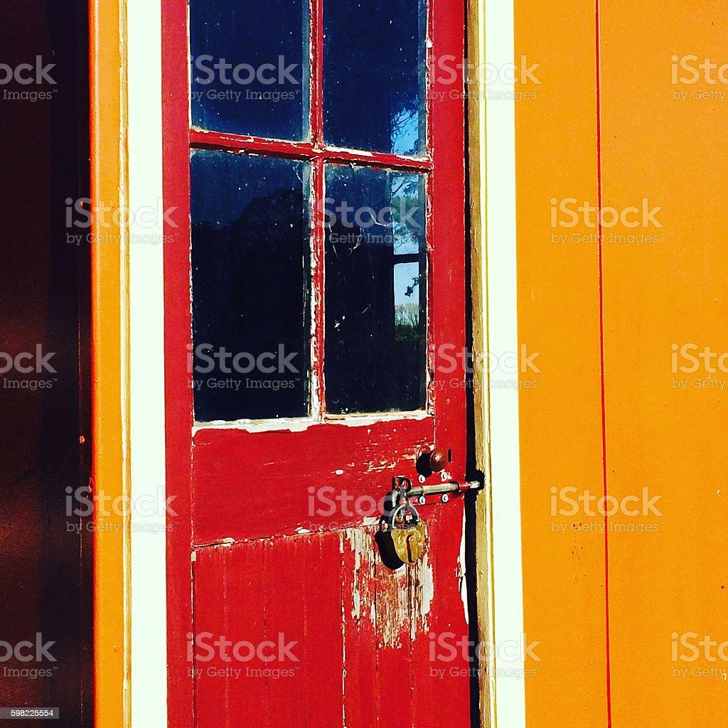 Red portas com trava foto royalty-free