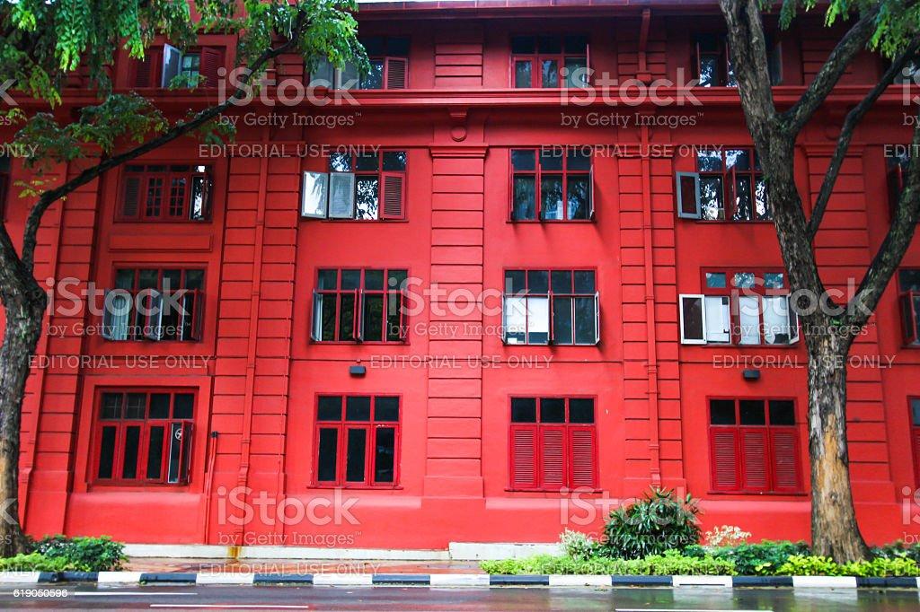 Red Dot Design Museum, Singapore stock photo