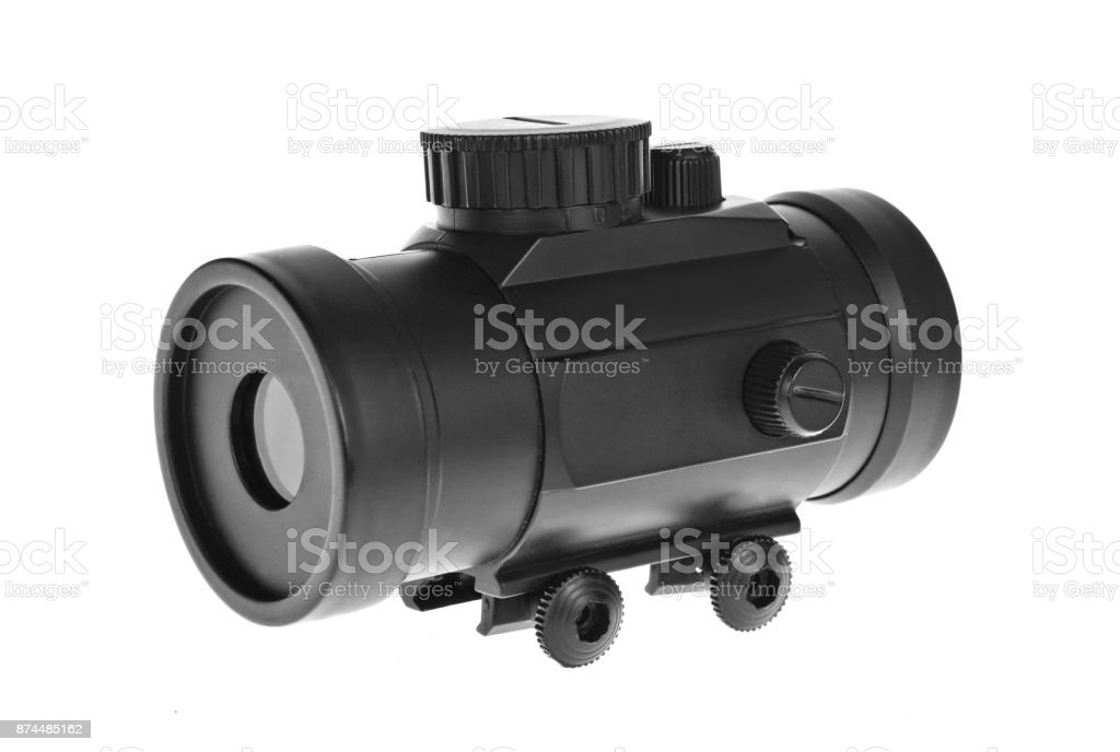 Red dot sight stock photo